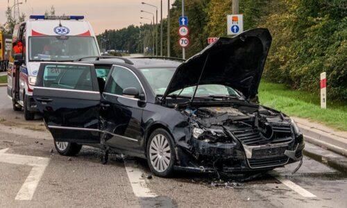 Wypadek na ul. Grajewskiej w Ełku